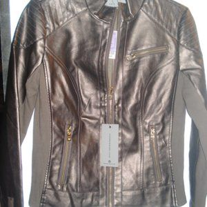 NWT Marc NY Copper/brown faux leather Sm Jacket